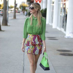 3.1 Phillip Lim for Target Green Chiffon Blouse XS